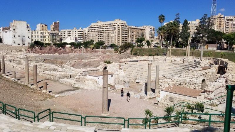 エジプト・アレクサンドリアにあるローマの円形劇場