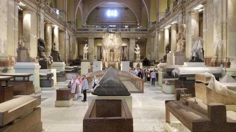 カイロのエジプト考古学博物館展示物
