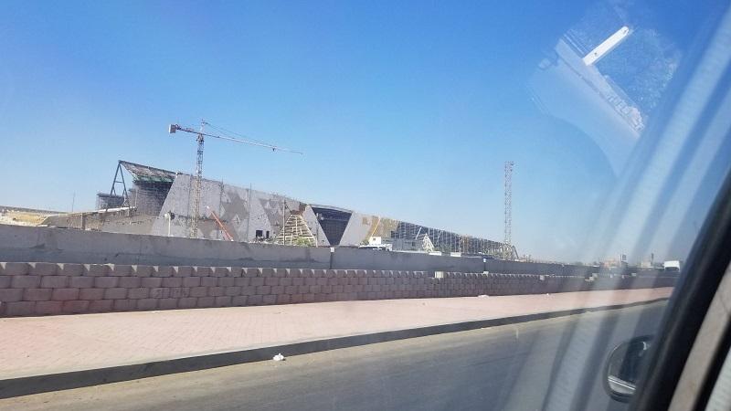 建設中のギザの大エジプト博物館