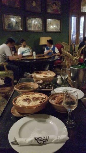 カイロのレストラン、アブー・エル・シドの店内