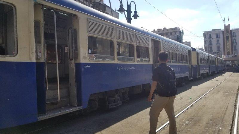 エジプト・アレクサンドリアの、超遅い路面電車