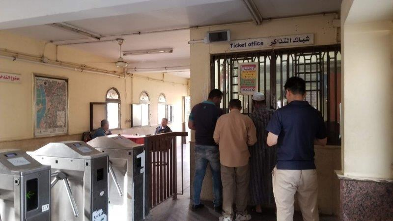 カイロの地下鉄の駅にある切符売り場