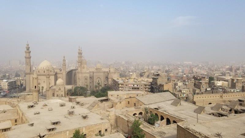 世界遺産に登録されている、カイロ市街の眺め