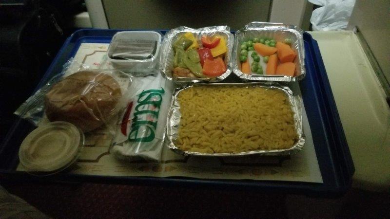 エジプトの寝台列車・ナイルエクスプレスの夕食