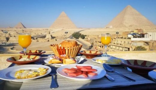 【エジプト】ギザ観光②:ピラミッドビューの絶景ホテル朝食!