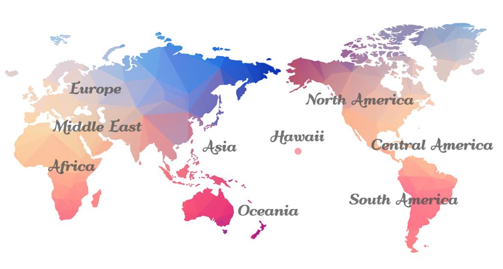 世界地図ー写真集と地域