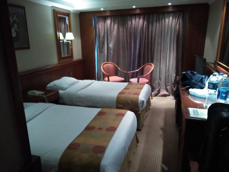 ナイル川クルーズ。寝室。