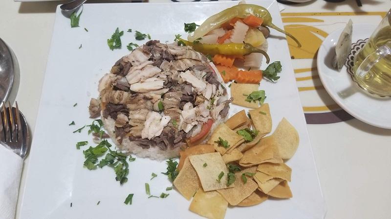カイロ・ラムセス駅のフードコートで食べたエジプト料理