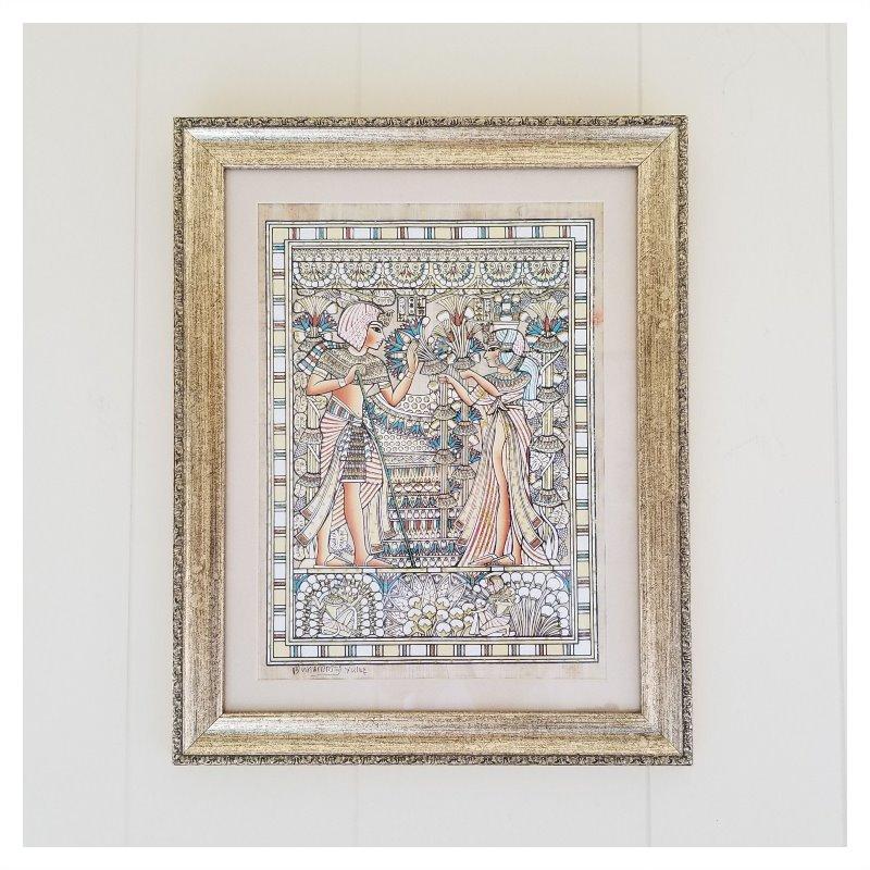 エジプトのお土産、パピルスの絵