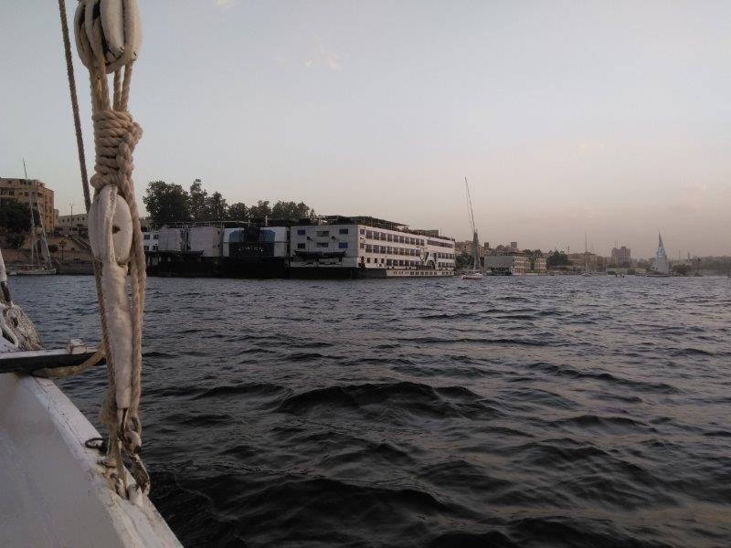 エジプト・アスワンのフルーカ遊覧
