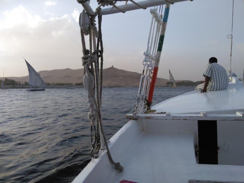 エジプト・アスワンのフルーカ体験