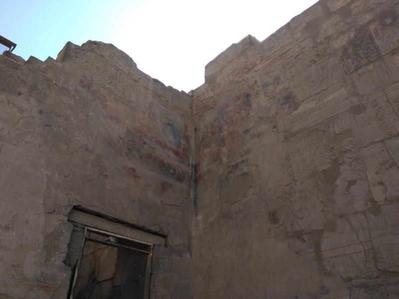 エジプト、ルクソール神殿。キリスト教の壁画。