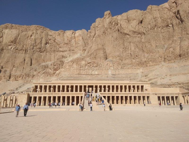 エジプト、ルクソールにある、ハトシェプスト女王葬祭殿。