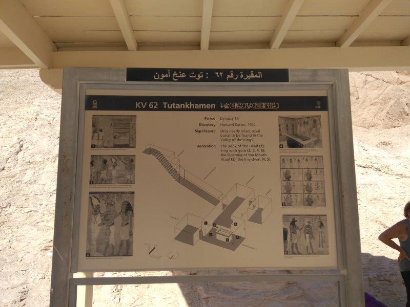 エジプト、ルクソールにある王家の谷。ツタンカーメンの墓の入り口。