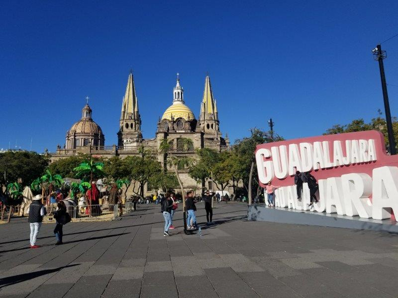 グアダラハラの歴史地区のリベラシオン広場