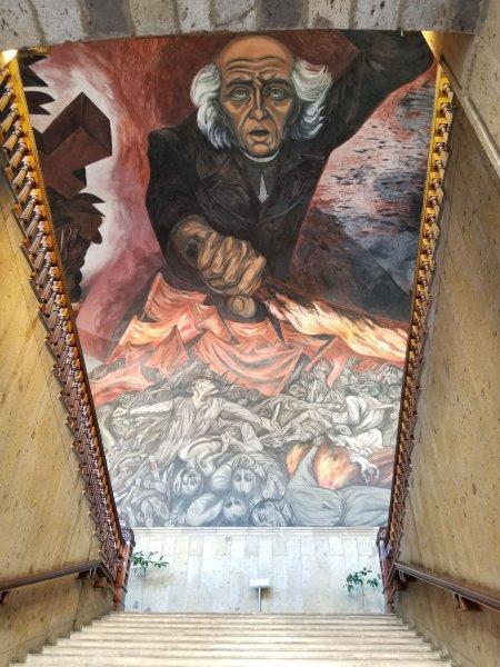 メキシコ美術の巨匠オロスコ作「戦うイダルゴ神父」