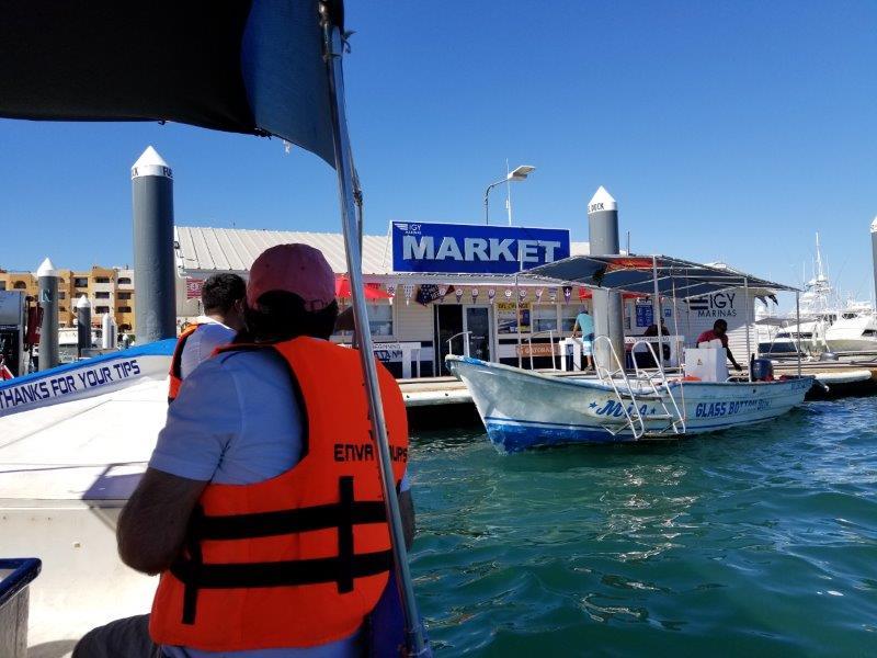 カボ・サン・ルーカスのマリーナからクジラウォッチングへ出発。