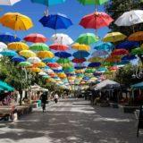 グアダラハラ観光・カラフルなアンブレラ通り