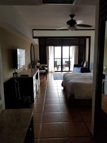 ハイアット・ジーヴァ・ロス・カボス。寝室から見えるプールサイド。