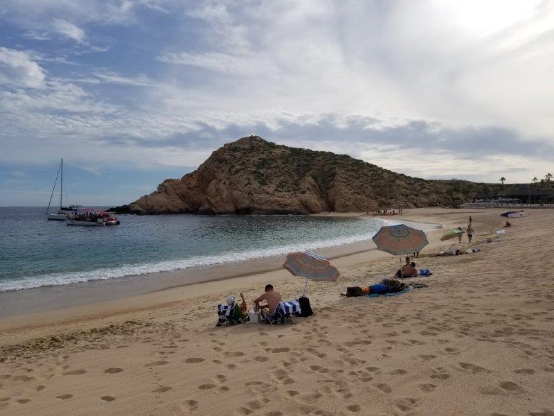 メキシコのロス・カボス。サンタ・マリア・ベイ・ビーチ。