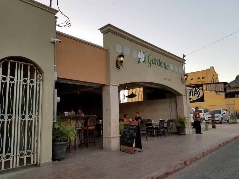 カボ・サン・ルーカスのメキシコ料理レストラン、Gardenia。