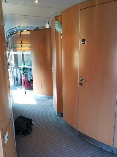 ドイツの鉄道(DB=ドイチェ・バーン) の高速列車ICE。トイレ。