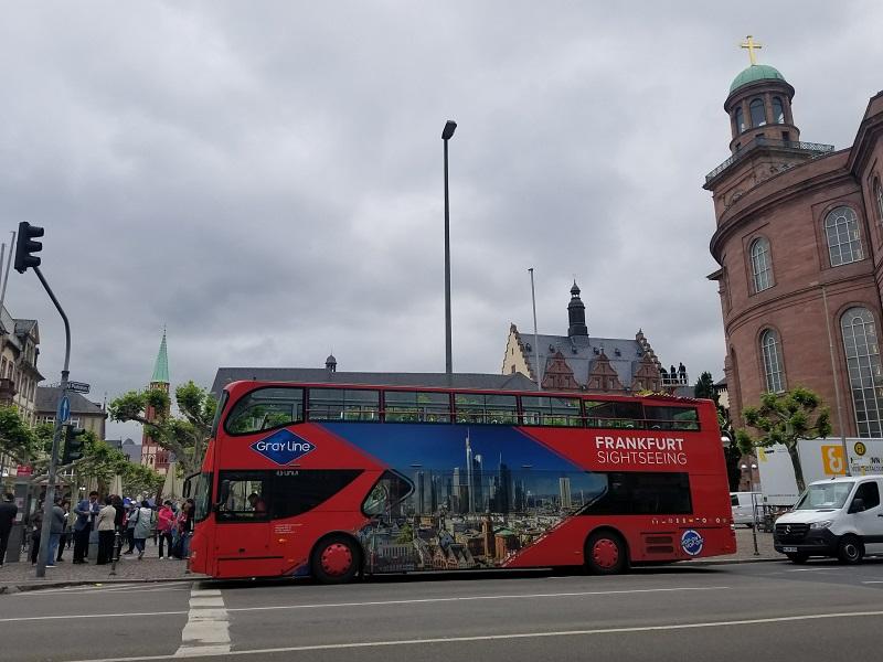 ドイツ・フランクフルト・ミュンヘンの乗り降り自由の観光バス。