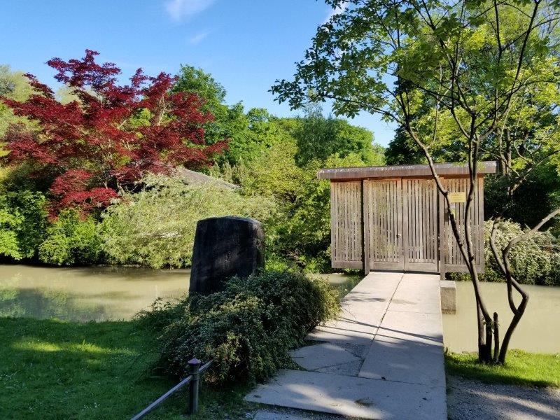 ミュンヘンの英国庭園にある日本式茶室、Kanshoan。