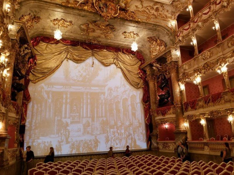 ミュンヘンのレジデンツ。ロココ様式のクヴィリエ劇場