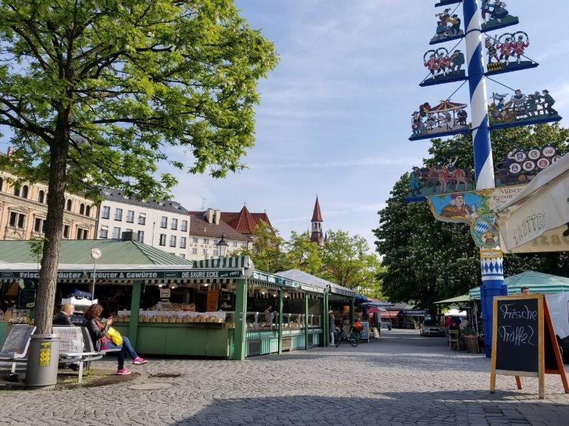 ミュンヘンの市場、ヴィクトアリエンマルクト。