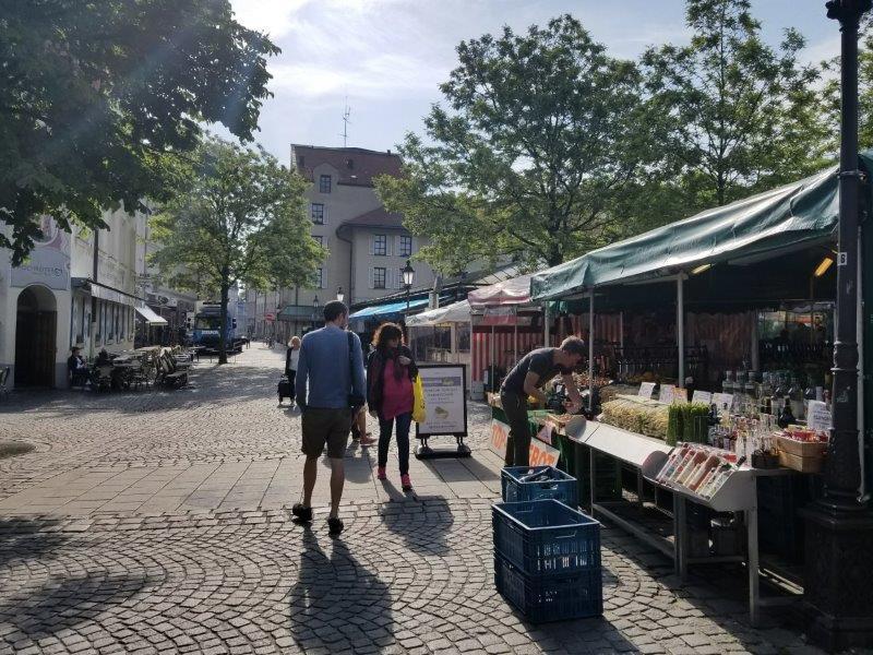 ミュンヘンのマーケット、ヴィクトアリエンマルクト。
