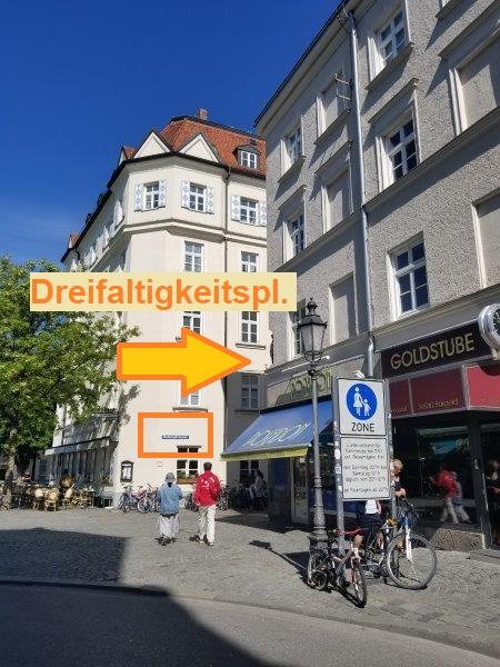 ミュンヘンの旧市街にある、ホテル・アム・マルクト。Hotel am Markt。車でのアクセス方法。