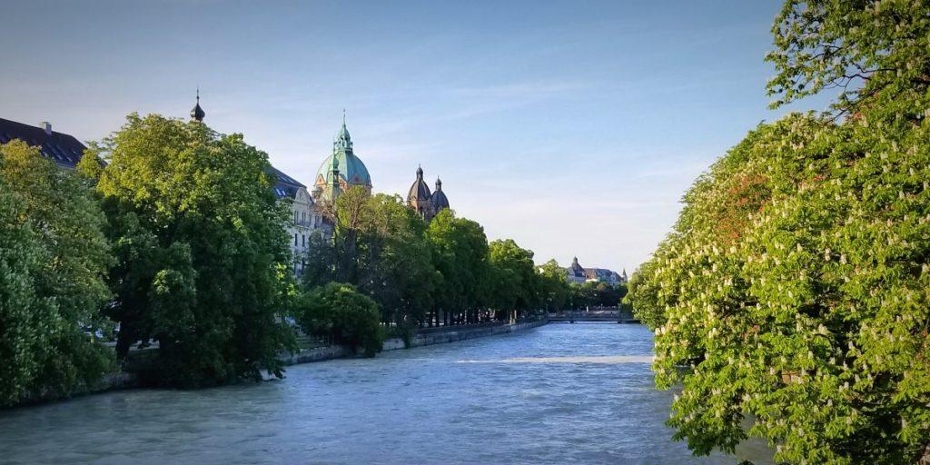 ミュンヘンを流れるイザール川。