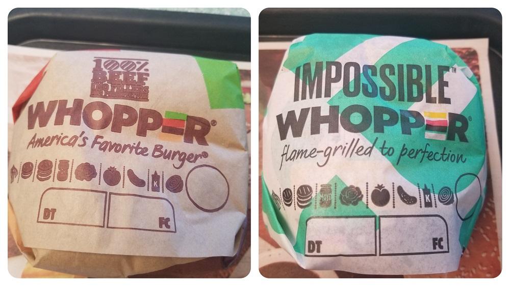バーガーキングのオリジナル・ワッパーとインポッシブル・ワッパーの食べ比べ