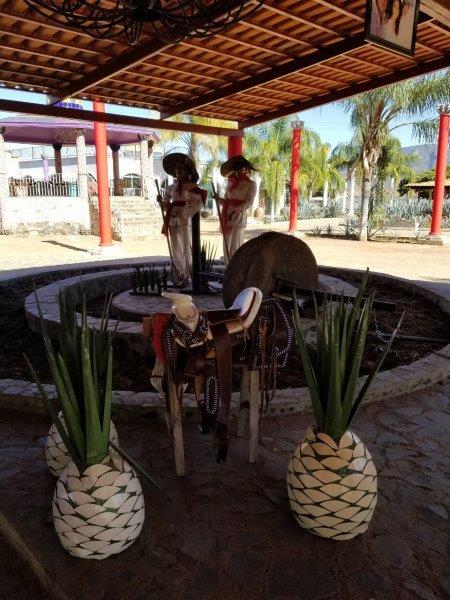 メキシコのテキーラツアー。テキーラ工場でテキーラの作り方を見学。