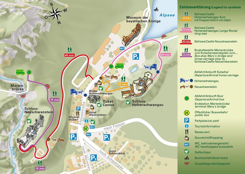 ホーエンシュヴァンガウ公式ホームページ地図