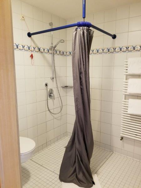 ハートゥングズ ホテル ドルフ(Hartungs Hotel Dorf)のシャワールーム。