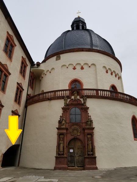 ヴュルツブルクのマリエンベルク要塞。マリエン教会。