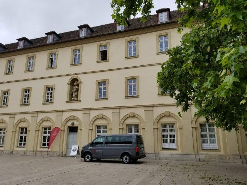 ヴュルツブルクの市庁舎にあるモーツアルト音楽祭の事務所