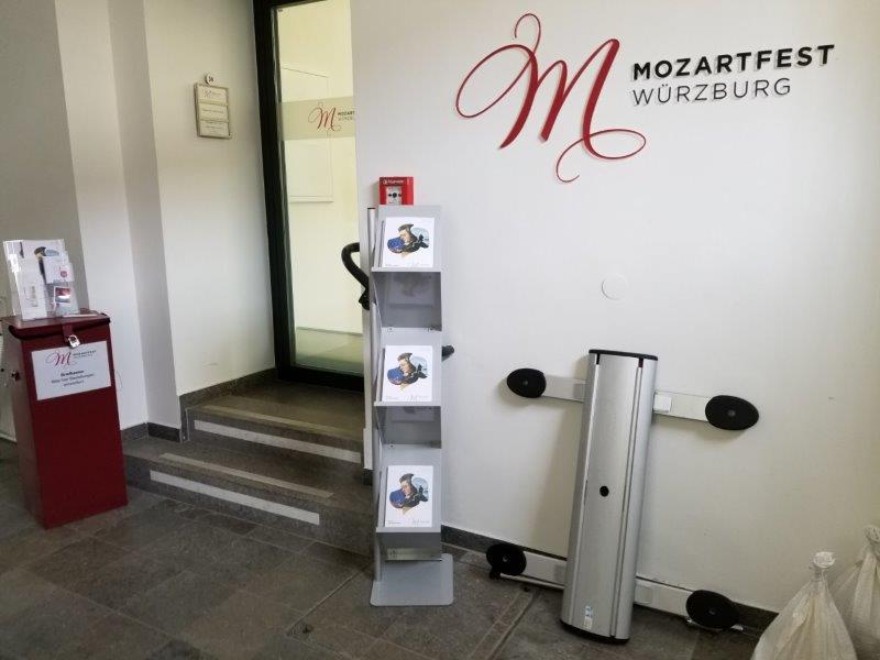 ヴュルツブルクの市庁舎にあるモーツアルト音楽祭のオフィス