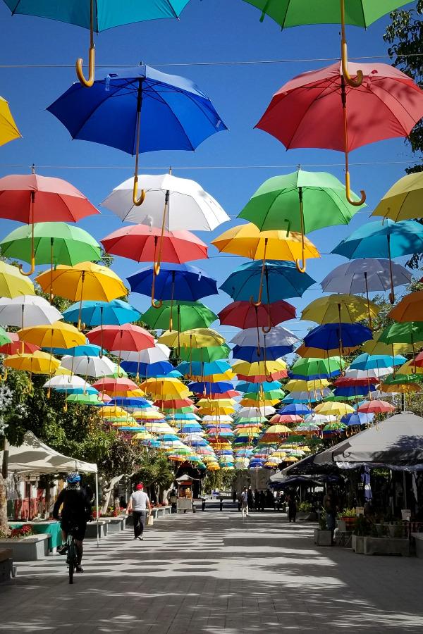 メキシコ・グアダラハラ・サポパン・傘通り