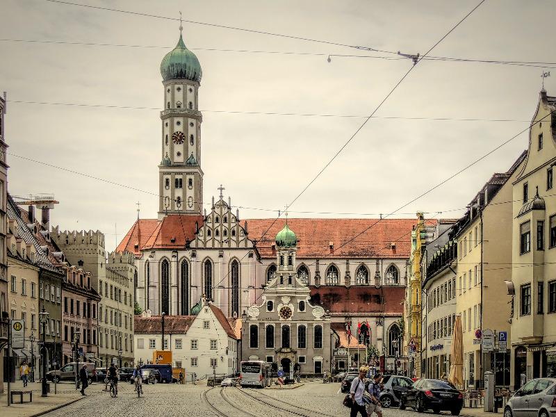 アウクスブルクの中世の街並み