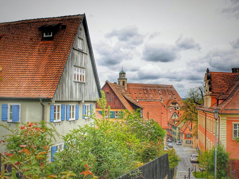 ディンケルスビュールの中世の街並み