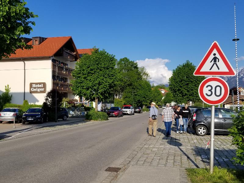 フュッセンのホップフェン湖沿いにある、ホテル・ガイガー(hotel geiger)。