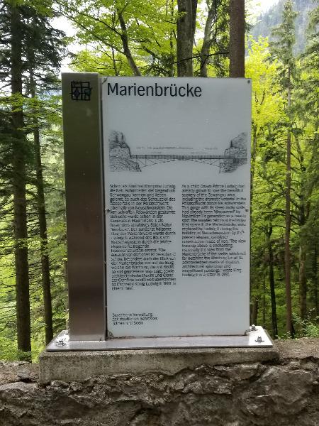 ノイシュバンシュタイン城のフォトスポット、マリエン橋