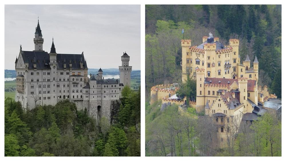 ノイシュバンシュタイン城とホーヘンシュヴァンガウ城