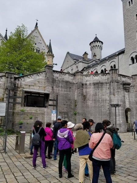 ノイシュバンシュタイン城の入り口