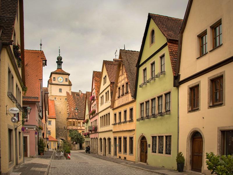 ローテンブルクの中世の街並み