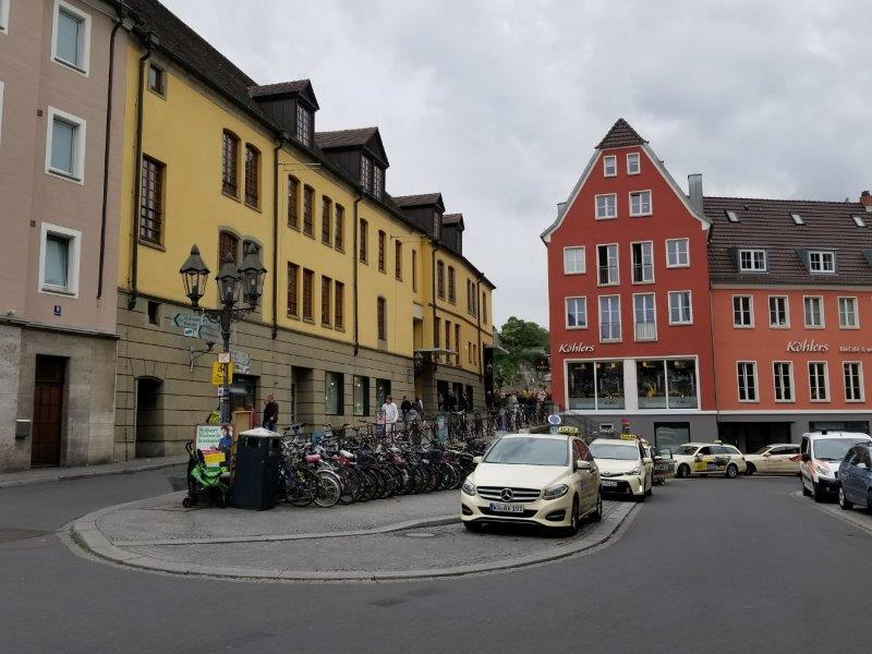 ヴュルツブルク、アルテ・マイン橋周辺。