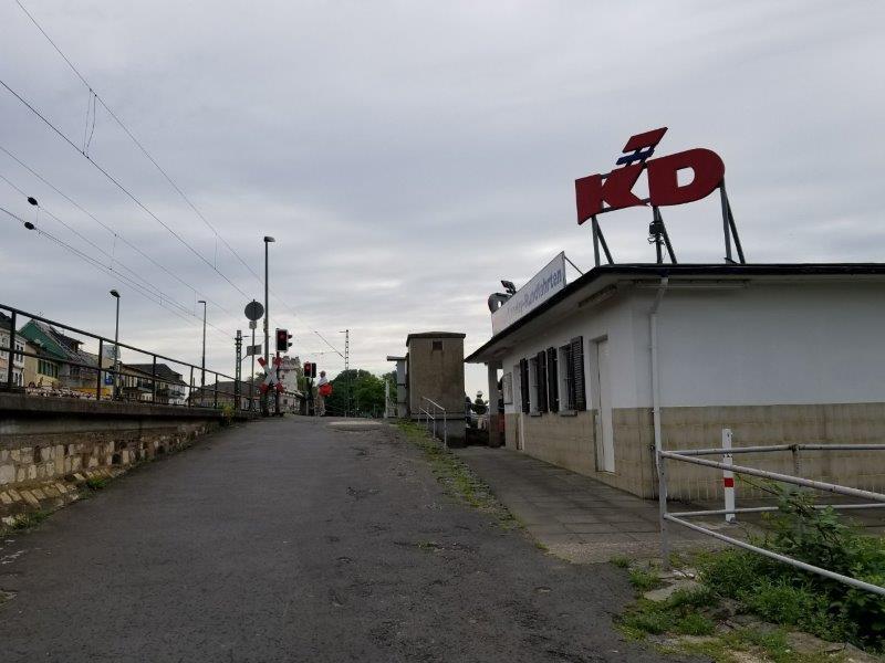 リューデスハイムのライン川クルーズのチケット売り場